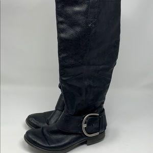 Just FABulous Fabiola black buckle boots